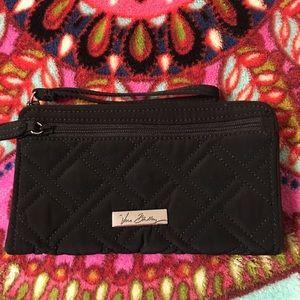 Vera Bradley Microfiber Front Zip Wristlet